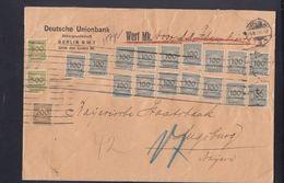 Dt. Reich Wertbrief 10 Milliarden 1923 Berlin Nach Augsburg - Briefe U. Dokumente