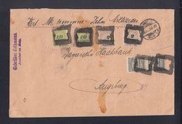Dt. Reich Wertbrief 10 Milliarden 1923 Frankfurt A.M. Nach Augsburg - Briefe U. Dokumente