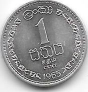 Ceylon 1 Cent  1965  Km 127   Bu - Sri Lanka