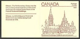 CANADA 1984 PARLIAMENT BOOKLET MAPLE LEAVES MNH - 1952-.... Reign Of Elizabeth II
