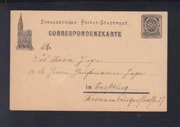 Dt. Reich Privatpost GSK Strassburg - Privatpost