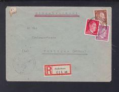 Dt. Reich Panzer-Lehrgänge Tiger Feldpost R-Brief Paderborn 1944 - Briefe U. Dokumente