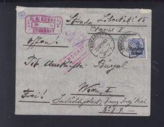 Romania German Occupation Cover 1918 Bucharest To Vienna - 1. Weltkrieg (Briefe)