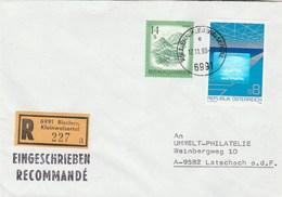 1988 REGISTERED Riezlern AUSTRIA HOLOGRAMME Stamps COVER Hologram - Hologrammen