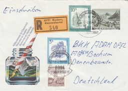 1985 REGISTERED Riezlern AUSTRIA Stamps On UPRATED Illus POSTAL STATIONERY COVER Welcome To Austria, Sailing - Stamped Stationery