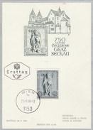 1968 AUSTRIA FDC Maximum Card DIOCESE Of GRAZ SECKAU Stamps Religion Christianity Cover - Maximum Cards