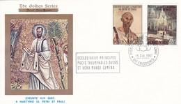 Vatikan. 1967. Peter + Paul  Mi: 524 + 527 The Golden Serie No.91 - FDC