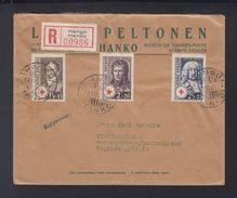 Finnland R-Brief 1936 Rotes Kreuz Marken - Finnland