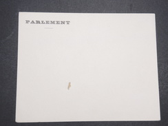 "FRANCE - Env Vierge Avec Entête ""Parlement"" - P22029 - Postmark Collection (Covers)"