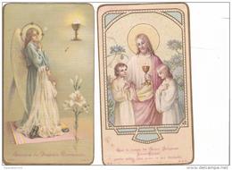 25580- Lot 2 Deux  Images Pieuses - Noyal Sur Vilaine  35 Bretagne France Marie Marcel Cadieux  1924 - Images Religieuses