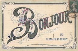 53 - MAYENNE / 531385 - St Calais Du Désert - Un Bonjour - Belle Carte Fantaisie - Paillettes - Frankreich