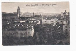 Wilna Gesamtblick Vom Schlossberg 1916 Feldpost OLD POSTCARD 2 Scans - Lithuania