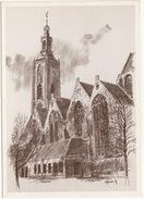 's-Gravenhage - Grote Of St. Jacobskerk (Tekening: Marinus Jansen -1999, KUIFJE Postzegel TINTIN Timbre) -(Zuid-Holland) - Den Haag ('s-Gravenhage)