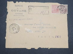 GUYANNE FRANçAISE - Devant De Lettre Recommandé Pour Paris - Nov 1921 - P22034 - Guyane Française (1886-1949)