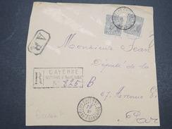 GUYANNE FRANçAISE - Devant De Lettre Recommandé Pour Paris - Pas Courant - Nov 1921 - P22035 - Guyane Française (1886-1949)