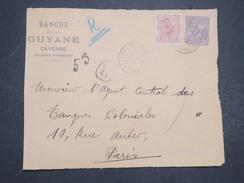 GUYANNE FRANçAISE - Devant De Lettre Recommandé Pour Paris - Pas Courant - Mars 1922 - P22037 - Guyane Française (1886-1949)