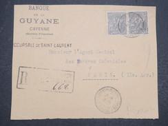 GUYANNE FRANçAISE - Devant De Lettre Recommandé Pour Paris - Pas Courant - Mars 1922 - P22042 - Guyane Française (1886-1949)