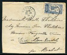 Maroc - Enveloppe ( Retaillée à Gauche ) De Fedhala Pour Sidi Bou Knadel En 1924 - Ref N 172 - Marokko (1891-1956)