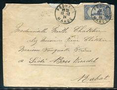 Maroc - Enveloppe De Fedhala Pour Sidi Bou Knadel En 1924 - Ref N 173 - Briefe U. Dokumente