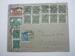 1923 , Massenfrankatur Auf Brief Aus Hamburg - Briefe U. Dokumente