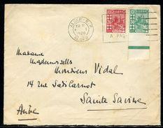 """Algérie - Enveloppe De Alger Pour La France En 1936 , Vignette Au Verso  """" TSF à L 'Hôpital """"- Ref N 175 - Algerien (1924-1962)"""