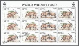 Eritrea - Erythree 1996 Yvert 282-85, Fauna Protection, WWF, Oryx Gazella Beisa - Sheetlet - MNH - Eritrea