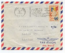 Tchad - Lettre De 1961 - Fort Lamy - Cachet AEF - 2 Scans - (C124G) - Briefe U. Dokumente