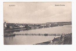 Kowno Memel- Brücke 1916 Feldpost OLD POSTCARD 2 Scans - Lithuania
