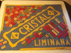 BISTROT - TAPIS DE CARTE PUBLICITAIRE CRISTAL/LUMINANA + JETONS BOIS PUBLICITAIRES - AUTOUR DE 1950 EN ALGERIE - Autres