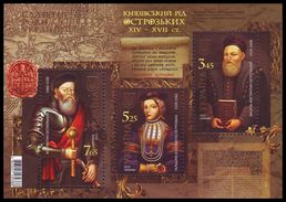 UKRAINE 2015. PRINCELY DYNASTY OSTROZKI. Mi-Nr. 1515-17 Block 133. Mint (**) - Ukraine