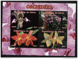 ORCHIDS,FLOWERS On SOUVENIR SHEET 4 STAMPS,Mint,MNH,#BA192 Inbox - Orchids