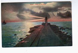 Memel Abend An Der Mole 1921 OLD POSTCARD 2 Scans - Litauen