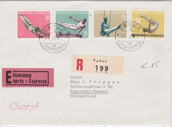 LIECHTENSTEIN 1957 LETTRE RECOMMANDEE EN EXPRESS DE VADUZ AVEC CACHET ARRIVEE - Liechtenstein