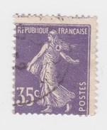 YT 142 Semeuse - Variété Anneau Lune (SUPERBE !!!) Et Piquage - Oblitération Partielle - Variétés Et Curiosités