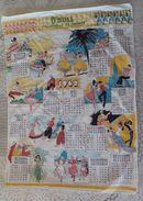 Torchon Calendrier Publicitaire 1962 O BULL L Eau Petillande En Sachets - Sin Clasificación