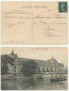 Paris Départ 30.12.1908 Carte Paris Gare D'Orsay - Postmark Collection (Covers)