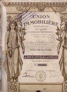 Union Immobiliére - 1925 - Textile