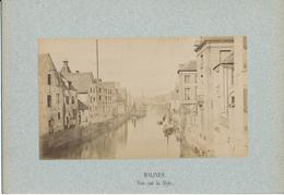MALINES, Belgique - Vue Sur La Dyle - Photo Ancienne Contrecollée Sur Carton Fort - Photos