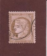 54 De 1875  - Oblitéré - Emission Du Type CERES  Dentelé, III ème République - 10c. Brun S Rose  - Voir Les 2 Scannes - 1871-1875 Ceres