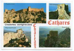 Chateaux Cathares--Citadelles Vertigineuses (Puylaurens,Montségur,Peyrepertuse,Quéribus)--cachet  THUIR-66 - Histoire