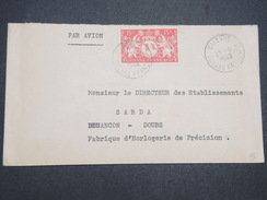 GUYANNE FRANçAISE - Env Par Avion De Cayenne Pour Besençon - 1948 - P22051 - Guyane Française (1886-1949)