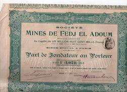 Mines De FEDJ El ADOUM - 1912 - Textile