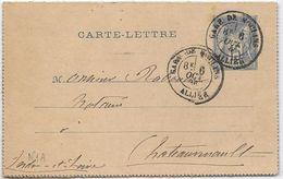 France Entiers Postaux - 15 C Bleu - Type Sage - Carte-lettre -  Oblitéré Poste Ferroviaire - Spoorwegpost