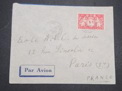 GUYANNE FRANçAISE - Env Par Avion De Cayenne Pour Paris - 1948 - P22055 - Guyane Française (1886-1949)