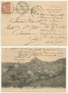 SIMIANE Cachet Perlé Pour Générac 1904 Carte Simiane Vue Générale - Marcophilie (Lettres)