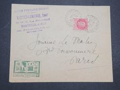 """FRANCE - Env Avec Vignette """"Caisse De Secouirs Aux Libraires Sinistrés"""" - 1942 - P22059 - Commemorative Labels"""