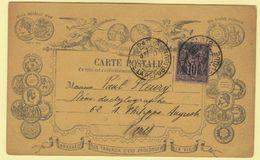 """SAGE, Carte Postale Précurseur Sténographie Duployé DUPLOYE """"Abreger Les Travaux C'est Prolonger La Vie"""" Paris 1887 RARE - Cartes Postales"""