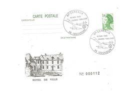 Carte Postale , Entier Postal , 36 , Indre , ISSOUDUN , XI E CEREALIA , 1985 , Hôtel De Ville , Charrue Fouilleuse - Ganzsachen