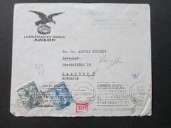 Spanien 1940 Zensurpost Nach Hamburg. Zensur Spanien Und Wehrmacht! Lubificantes Marca Aiglon. Alkohol?!? Adler - 1931-50 Briefe U. Dokumente