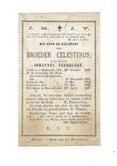 Doodsprentje Broeder CELESTINUS (Johannes VERBRUGGE) - Broeder Van Liefde - °Dadizele En Overleden Te Doornik 1887 - Images Religieuses